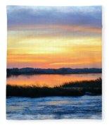 Flooded River Fleece Blanket