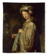 Flora Fleece Blanket