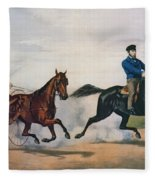 Flora Temple And Lancet Racing On The Centreville Course Fleece Blanket