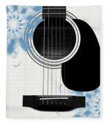 Floral Abstract Guitar 25 Fleece Blanket