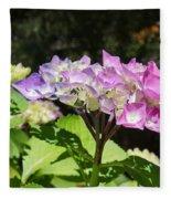 Floral Art Photography Pink Lavender Hydrangeas Fleece Blanket