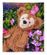 Floral Bear Fleece Blanket
