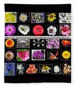 Floral Composite Not For Sale Fleece Blanket