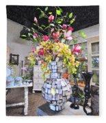 Floral Decor Fleece Blanket