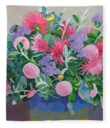 Floral Display Fleece Blanket