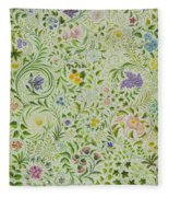 Floral Fantasy Fleece Blanket