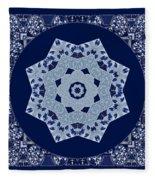 Floral Flow Blues Fleece Blanket