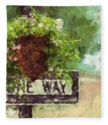 Floral - Flowers - One Way Fleece Blanket