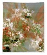 Floral Fractal 030713 Fleece Blanket