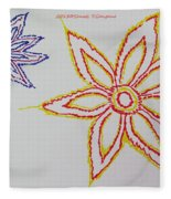 Floral Joy  Fleece Blanket