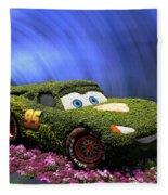 Floral Lightning Mcqueen Fleece Blanket