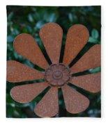 Floral Metal Art Fleece Blanket