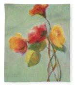 Floral Painting Fleece Blanket