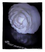 Floral Reflections 4 - Camellia Fleece Blanket