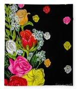 Floral Rhapsody Pt.4 Fleece Blanket