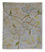 Floral Stem Fleece Blanket