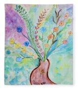 Floral Stream Fleece Blanket