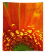 Floral Sunrise - Digital Painting Effect Fleece Blanket