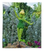 Floral Tinker Bell Fleece Blanket