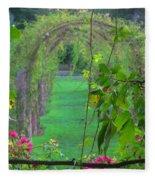 Floral Window Fleece Blanket