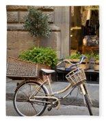 Florence Bicycle  Fleece Blanket