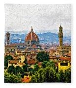 Florence Impasto Fleece Blanket
