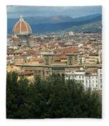 Florence Italy Panoramic Fleece Blanket