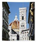 Florence Italy Santa Maria Fiori Duomo Fleece Blanket