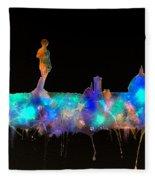 Florence Skyline - Nighttime 1 Fleece Blanket