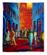 Florence Sunset Fleece Blanket