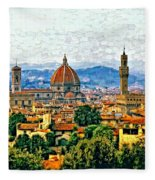 Florence Watercolor Fleece Blanket