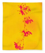 Florets In Ochre Fleece Blanket