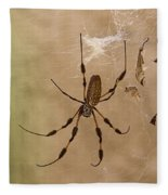 Florida Banana Spider Fleece Blanket