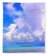 Florida Bay At Shell Pass Filtered Fleece Blanket