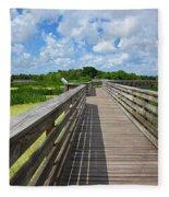 Florida Boardwalk Fleece Blanket