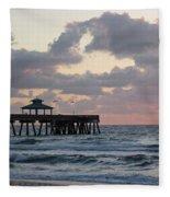 Florida Fishing Pier Fleece Blanket