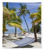 Florida Keys Wellness Fleece Blanket