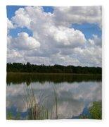 Florida Lake 1 Fleece Blanket
