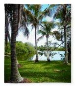 Florida Lake Fleece Blanket