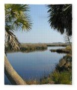 Florida Marshland Fleece Blanket