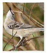 Florida Mockingbird Fleece Blanket