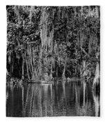 Florida Naturally 2 - Bw Fleece Blanket