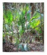 Florida Palmetto Bush Fleece Blanket