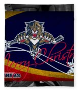 Florida Panthers Christmas Fleece Blanket