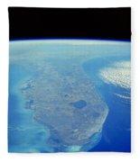 Florida Peninsula, Discovery Shuttle Fleece Blanket