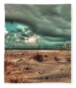 Florida Point Begining Of The Storm Fleece Blanket