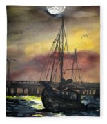 Florida Sailing Fleece Blanket