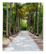 Florida Walkway Fleece Blanket