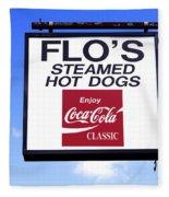 Flo's Steamed Hot Dogs Fleece Blanket