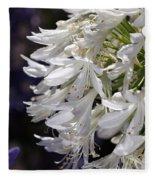 Flower-agapanthus-white-flora Fleece Blanket